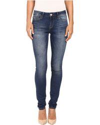 Mavi Jeans - Alexa Mid-rise Skinny In Dark Indigo Tribeca - Lyst