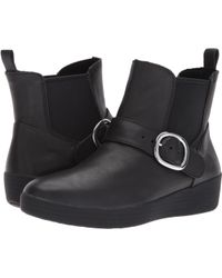 Fitflop - Superbuckle Leather Chelsea Boot - Lyst