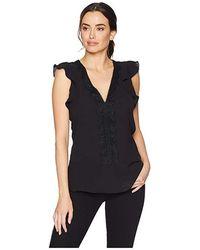 e33fbc508b15c0 MICHAEL Michael Kors - V-neck Lace Trim Top (black) Clothing - Lyst