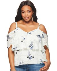 Lucky Brand - Plus Size Floral Cold Shoulder Top - Lyst