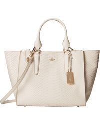 Coach Embossed Python Crosby Carryall - Lyst