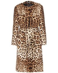 Dolce & Gabbana Wool And Cashmere Coat - Lyst