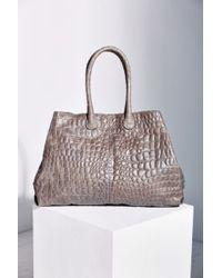 Liebeskind Chelsea Croc-embossed Leather Tote Bag - Lyst
