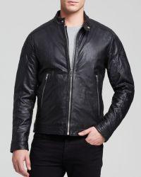 Diesel L-Monike Washed Leather Jacket - Lyst