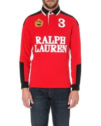 Ralph Lauren Custom-fit Cotton-jersey Rugby Shirt - Lyst