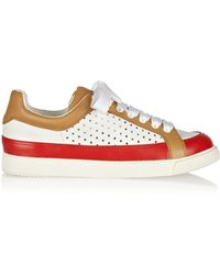 See By Chloé Perforated Leather Sneakers - Lyst