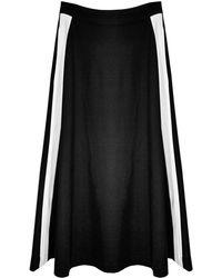 Cynthia Rowley Racer Stripe Midi Skirt - Lyst
