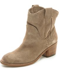 Dolce Vita Graham Pull On Booties  Moss - Lyst