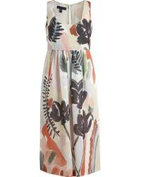 Burberry Prorsum Floral Print Silk Dress - Lyst