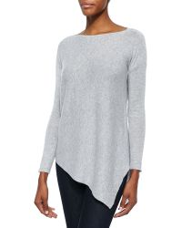 Alice + Olivia Ribbed Knit Asymmetric Pullover Sweater - Lyst