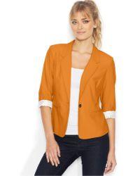 Kensie Three-Quarter-Sleeve Blazer - Lyst