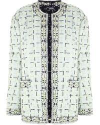 Meadham Kirchhoff Mint Tweed Garnett Jacket - Lyst