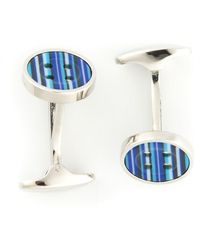 Paul Smith Blue Button Cufflinks - Lyst