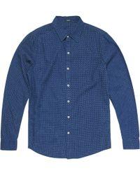 Denham Ellis Dot Shirt - Blue
