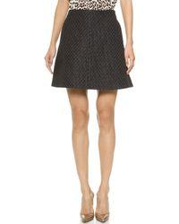 Carven Fancy Tweed Skirt - Black - Lyst