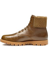 Gucci Leather Laceup Boot - Lyst