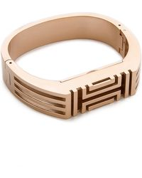 Tory Burch For Fitbit Metal Hinged Bracelet - Rose Gold - Lyst