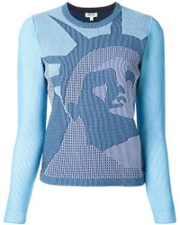 Kenzo Statue Of Liberty Cotton-Blend Sweater - Lyst