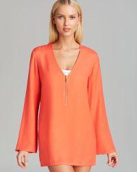 MICHAEL Michael Kors Linked Solids Tunic Swim Cover Up - Orange