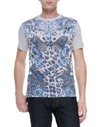 Versace Short-sleeve Graphic-print T-shirt - Lyst