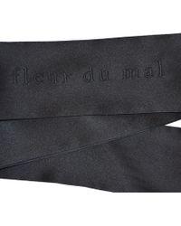 Fleur du Mal Silk Blindfold - Black