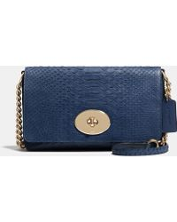 Coach Crosstown Crossbody In Embossed Python Leather - Lyst