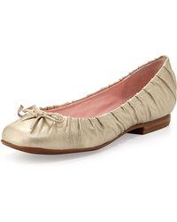 Taryn Rose Pintucked Ballet Flat - Lyst