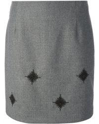 Sharon Wauchob - Beaded Embroidery Straight Skirt - Lyst