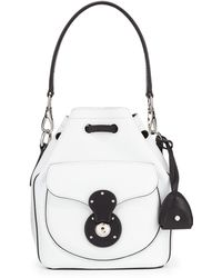 Pink Pony - Ricky Small Bicolor Leather Bucket Bag - Lyst