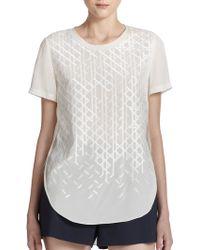 3.1 Phillip Lim Embroidered Silk Top - Lyst