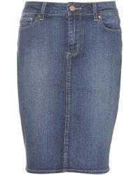 PAIGE Deirdre Denim Skirt - Blue