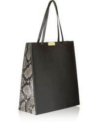 Stella McCartney - Beckett Large Faux Leather And Faux Python Tote - Lyst