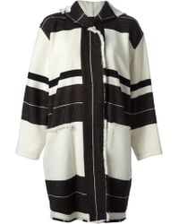 Isabel Marant Striped Coat - Lyst