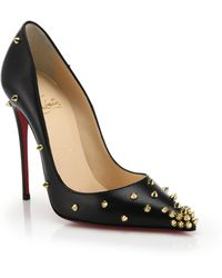 christian louboutin degraspike studded embellished pumps