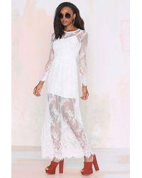 Nasty Gal Reverse Lace Lady Maxi Dress - Lyst
