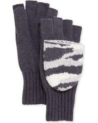 Portolano Camouflage Flip-Top Mitten/Gloves gray - Lyst