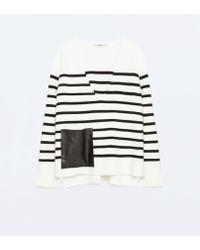 Zara   V-neck Sweater   Lyst