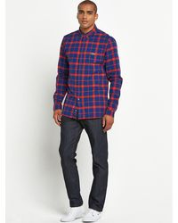 Lacoste Mens Check Shirt - Lyst