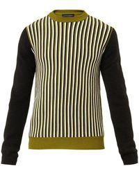 Jonathan Saunders Striped Merinowool Sweater - Lyst
