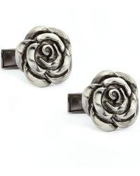 English Laundry Rose Cufflinks - Metallic