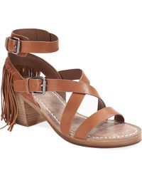 Belle By Sigerson Morrison Alisha Leather Sandals brown - Lyst