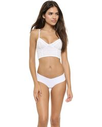 Free People Stretch Lace Crop Bra  White - Lyst