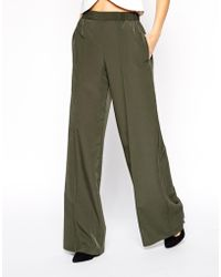 Asos Wide Leg Trouser with Pintuck - Lyst