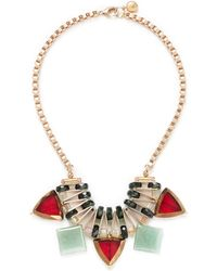 Scho - Jade Plate Glass Bead Necklace - Lyst