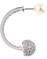 Delfina Delettrez Diamond and Pearl Single Earring - Lyst
