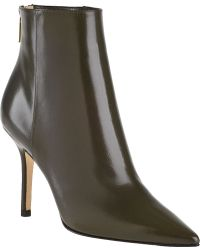 Jimmy Choo Amore Ankle Boot Military Green Leather - Lyst