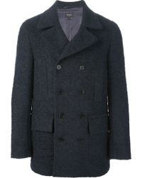Paul Smith Double Breasted Peacoat - Lyst