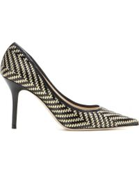 Jimmy Choo Agnes Woven Leather Pumps - Lyst
