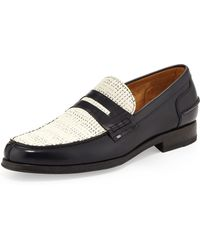 Paul Smith Konrad Woven-leather Loafer - Lyst