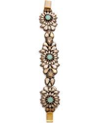 Deepa Gurnani   Floral Crystal Cuff Bracelet   Lyst